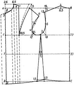 Построение чертежа выкройки блузы, раскрой и пошив блузы