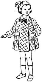 Пошив детского платья 28 размера с вытачкой от плеча