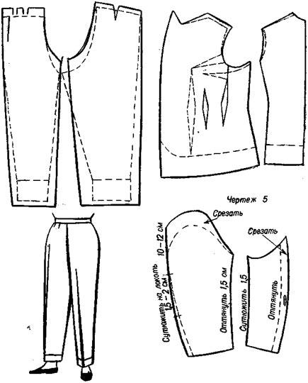 Переделка мужского костюма