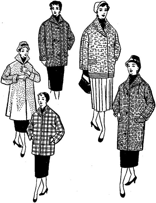 Из старого пальто можно пошить полупальто или куртку.