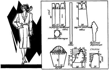 Пошив делового платья - выкройка