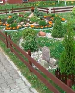 Размещение цветочных растений на усадьбе