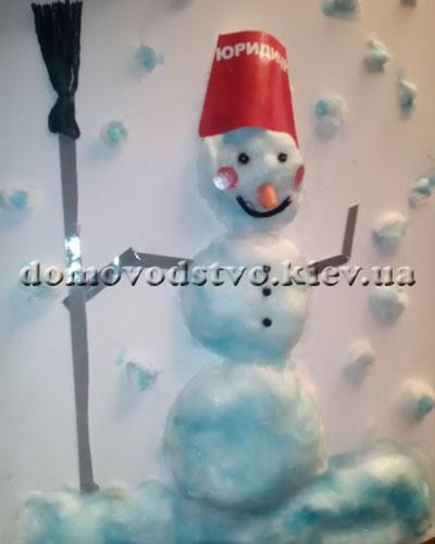 Детская поделка Снеговик своими руками