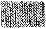 Приемы и выполнения различных рисунков вязки
