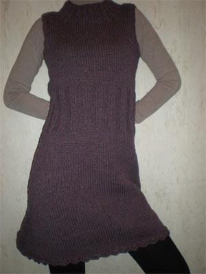 Вязаное платье - сарафан
