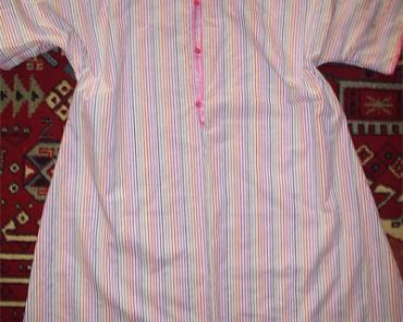 Пошив ночной рубашки для кормления ребенка грудью
